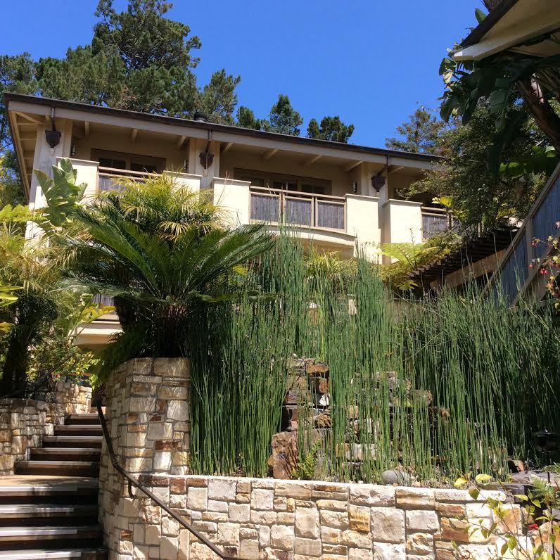 Tradewinds Carmel with Zen Style, Firepit, Stream and Meditation Area on Courtyard in Carmel by the Sea, Ca 93921