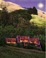 Ventana Inn in Big Sur Wilderness with ocean view and Santa Lucia mountains, yoga, restaurant and spa on Highway 1 Ca 93920